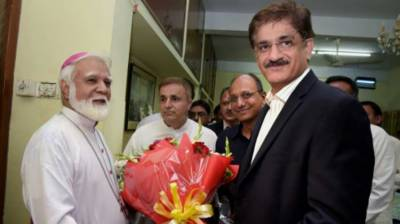 CM Sindh visits St. Patrick Church in Karachi
