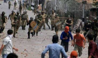 Protesters subjected to force in Occupied Kashmir, several Injured