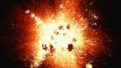 Atleast four policemen injured in a blast