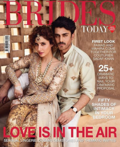 Mahira Khan - Fawad Khan sizzle on Indian bridal magazine cover photo