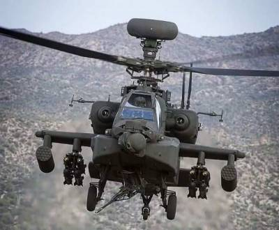 Saudi Military combat helicopter shot down