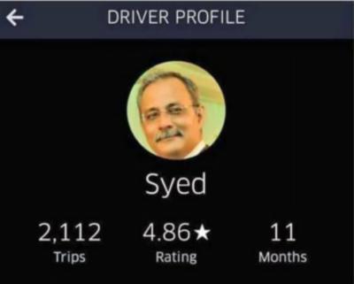 Is MQM Haider Abbas Rizvi driving Uber in Canada?
