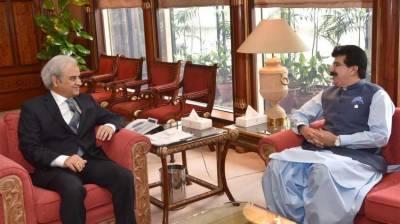 Chairman Senate pays courtesy call on caretaker PM
