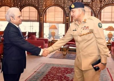 Caretaker PM meets General Bajwa