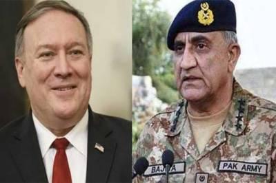 US Secretary of State Mike Pompeo calls COAS General Bajwa