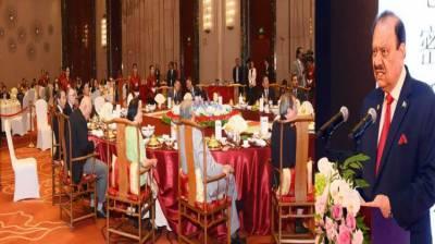 President proposes trade transit, energy corridor b/w Pakistan, SCO countries