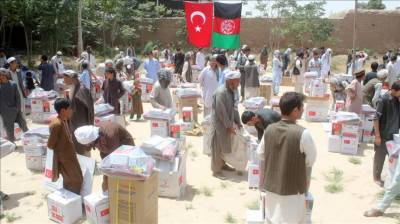 Turkish soldiers deliver aid to 200 war-torn families in Kunduz, Afghanistan