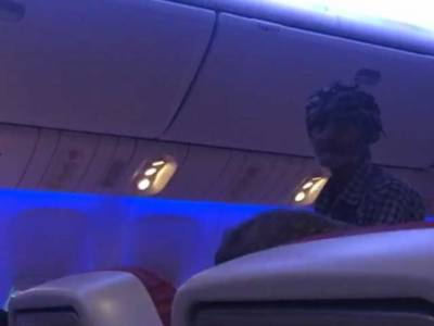 In a first such act of history, beggar found begging in airline flight