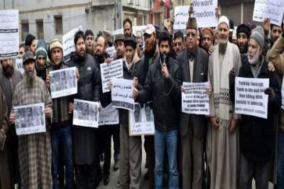 Kashmiri diaspora holds demonstrations outside UN office in Geneva