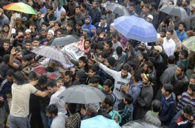 Thousands attend funeral prayers of martyred Kashmiri youth