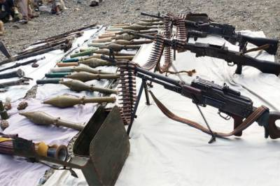 Huge arms and ammunition cache recovered by Security Forces