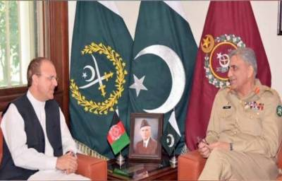 Afghanistan Ambassador Dr Omar Zakhilwal calls on COAS General Bajwa in GHQ