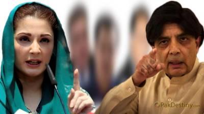 Chaudhry Nisar hits back at Maryam Nawaz over her taunts