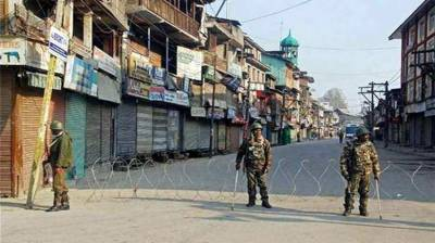 Shutdown in Occupied Kashmir against Indian troops operations