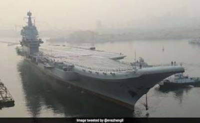 China's first indigenously built aircraft carrier embarks upon sea trial