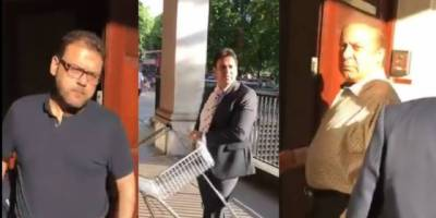 Angry protestors try to break in Nawaz Sharif London apartments