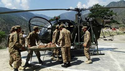 Pakistan Army rescues five stranded people in Sawan River