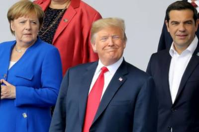 Donald Trump gives a shock to NATO allies after clashing with Angela Merkel