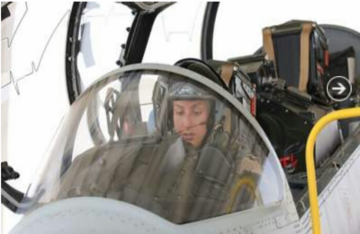 First Royal female fly warplane in Middle East