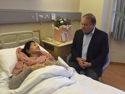 In a surprise development, Kulsoom Nawaz open eyes hours before Nawaz, Maryam leaving for Pakistan