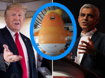 Donald Trump - Mayor Sadiq Khan clash in London