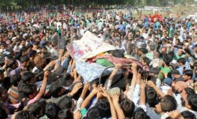 Indian troops martyr one more youth in IOK