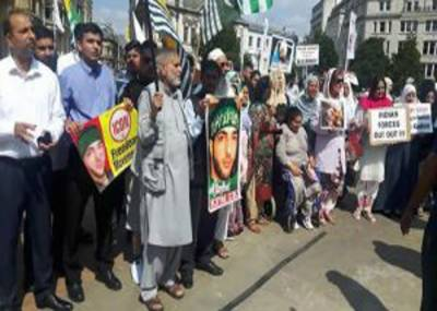 Kashmiri Diaspora in UK hold massive protests to pay tribute to martyrs