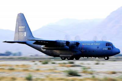 PAF C130 aircraft adjudged runner up among 300 aircrafts in world's largest show in UK