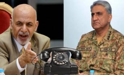 Afghan President Ashraf Ghani telephones COAS General Bajwa