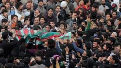 Indian troops martyr youth in IOK