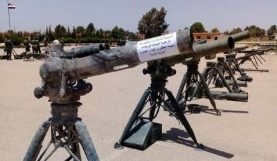 Syrian Army discovers huge cache of Israeli Arms from terrorists dens
