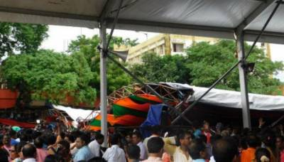 Tent collapse at PM Modi rally in India injures 15, Modi escapes unhurt