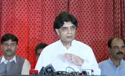 Chaudhry Nisar Ali Khan hits out at Nawaz Sharif
