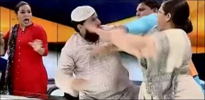 Indian cleric arrested for slapping woman during live TV show