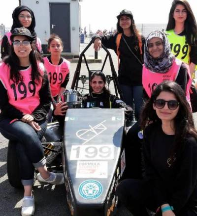 All women team of NUST recognized at international formula Car race competition