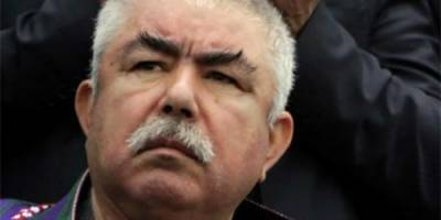 First Vice President of Afghanistan General Dostum living in exile in Turkey returns back