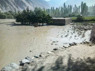 Glacial lake forms in Gilgit-Baltistan, evoking memories of Attabad
