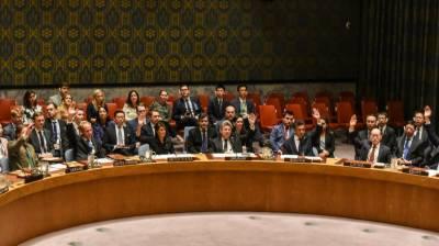 US faces a setback in the UN Security Council