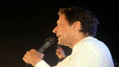 Standing against international establishment backing Nawaz, says Imran