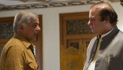 Shahbaz Sharif meets Nawaz Sharif in Adiala Jail
