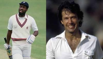 Sir Vivan Richards congratulates Imran Khan