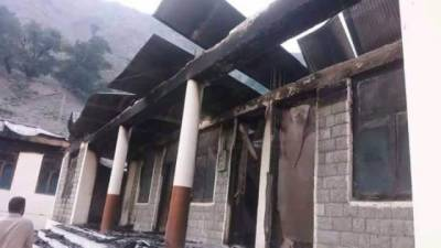 12 girls school blown mysteriously in Diamer