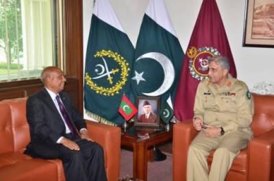 Maldives High Commissioner calls on COAS General Bajwa