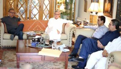 MQM top delegation meets PTI leader Jahangir Khan Tareen