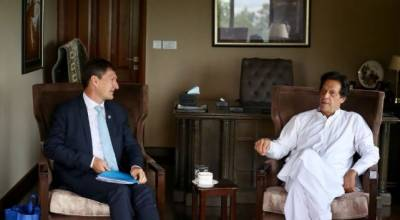 UNDP top official in Pakistan Neil Buhne meets PM designate Imran Khan