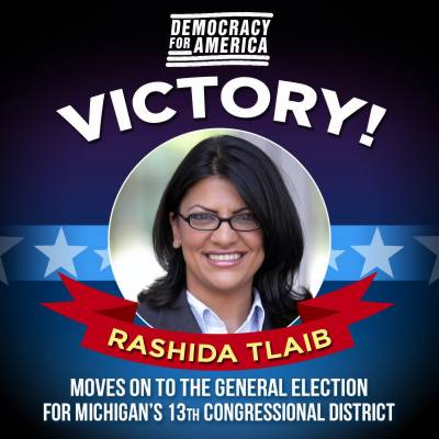 Rashida Tlaib becomes the first ever Muslim woman elected to US Congress