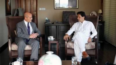 What did Imran Khan tell US Ambassador in first meeting?