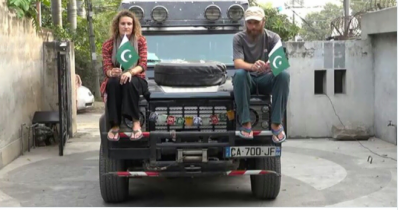 French couple which left France 3 years ago reached Pakistan for independence day celebrations