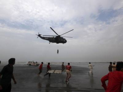 Pakistan Navy rescues 22 people in open waters from a sinking vessel