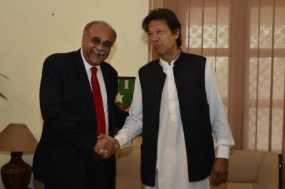 PM elect Imran Khan sends an indirect message to PCB Chairman Najam Sethi